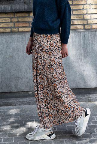 viscose maxi rok met bloemen dessin pleun sun flower skirt