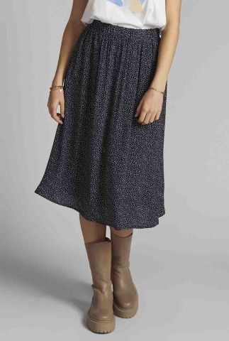 viscose midi rok met stippen dessin nucourtney skirt 700370