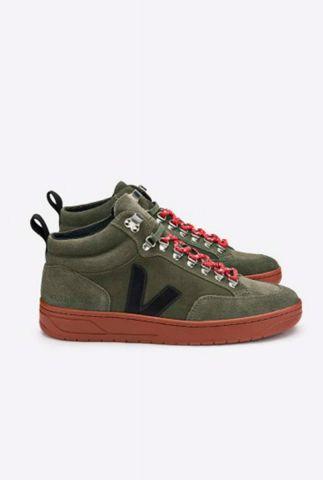 half hoge donker groene suède sneakers roraima suede qrw031635
