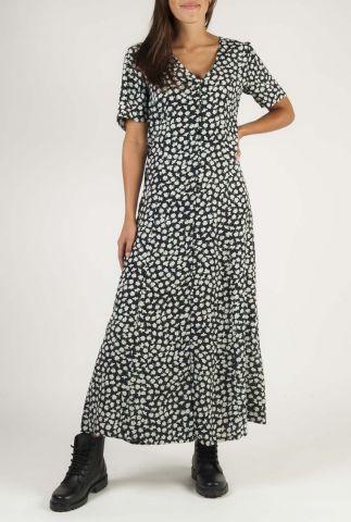 maxi wikkel jurk met all-over bloemen print rossie