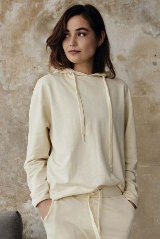 crème kleurige hoodie met capuchon rox comfy.4.7033