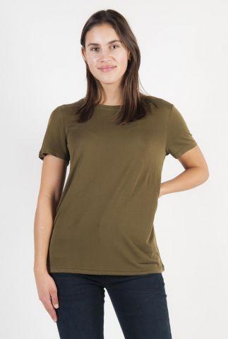 zacht modal basis t-shirt met ronde hals rynah 0281