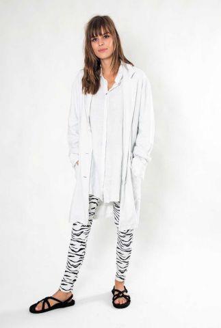 half lange off white jas van linnenmix s20w242