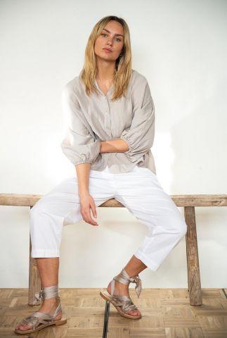 soepel vallende blouse met wijde mouwen s21f863