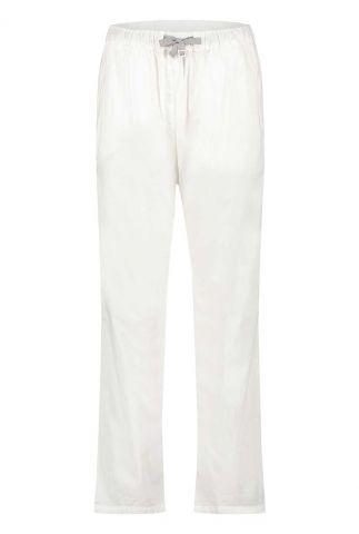 witte broek met elastische band en tunnelkoord s21w317