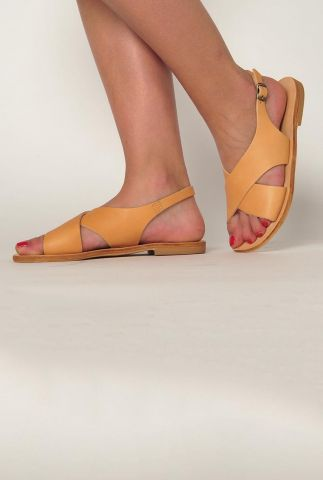 leren sandalen sa nt 02 cross strap wide