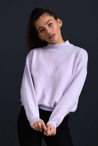 lila kleurige trui met hoge hals en relaxed fit sammy knit