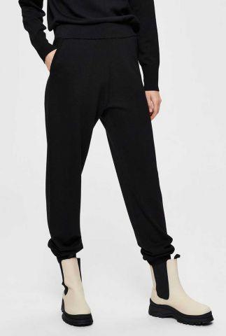 zwart gebreide broek van merino wol sandra knit pants 16076251