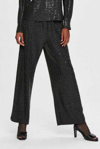zwarte glitter broek met pailletten sandra wide pant 16076791