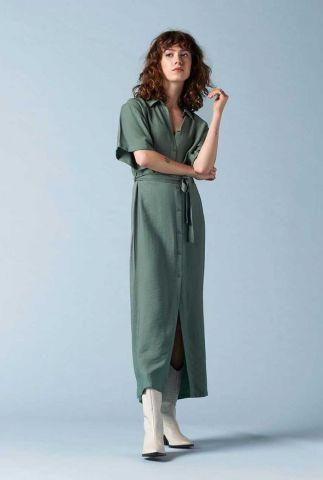 licht groene doorknoop maxi jurk sango dress
