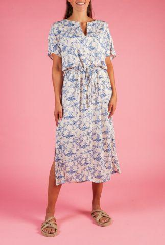 off-white viscose crepe jurk met sierlijke print sansa dress