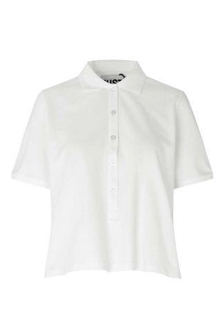 katoenmix top met korte mouwen en polo kraag santo polo shirt