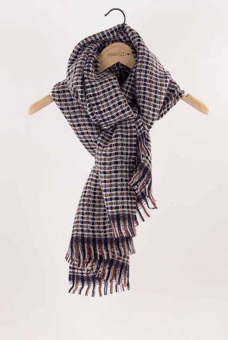 gekleurde sjaal met ingeweven ruit dessin 50x185 cm pio