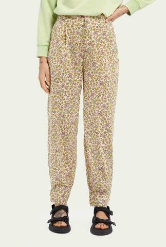 off-white high waist broek met gekleurd bloemen dessin 161578