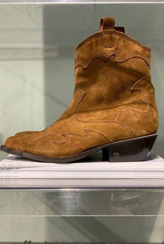 Suède cowboy laarzen met hak corall 21753105