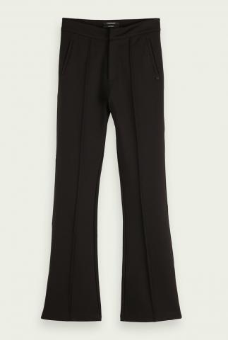 zwarte flared sweat broek van een zachte viscosemix 165774