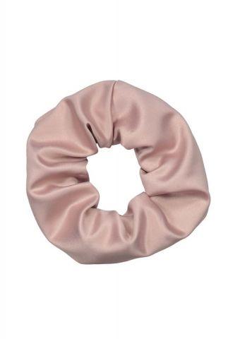 licht roze satijnen haar elastiek scrunchie river