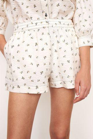witte seersucker short met bloemen dessin minsk shorts