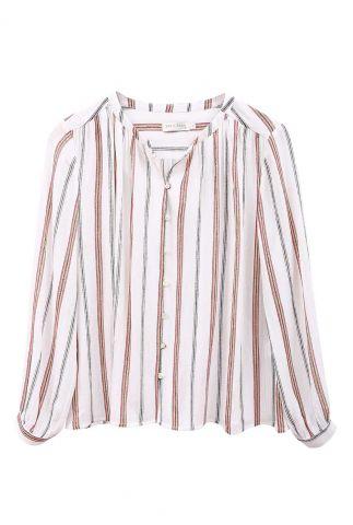 witte blouse met strepen dessin 21111159