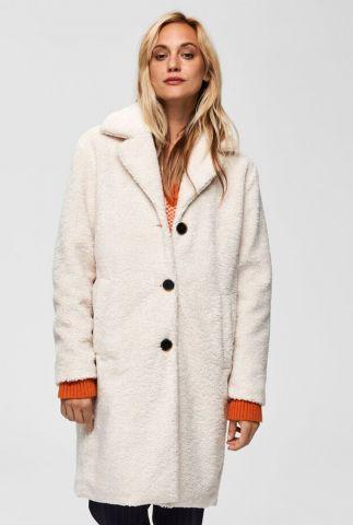 crème kleurige teddy jas nanna teddy coat 16068218