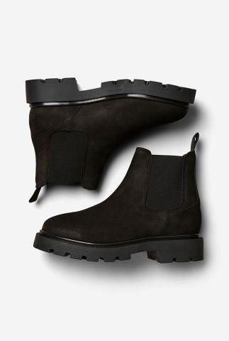 zwarte chelsea laarzen met rubber zool emma chelsea boot 16075918