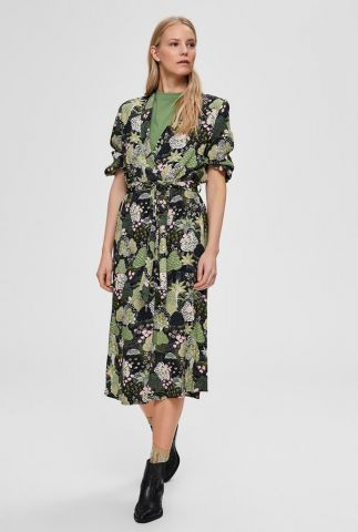 halflange jurk met botanische print marina-florenta 16072245