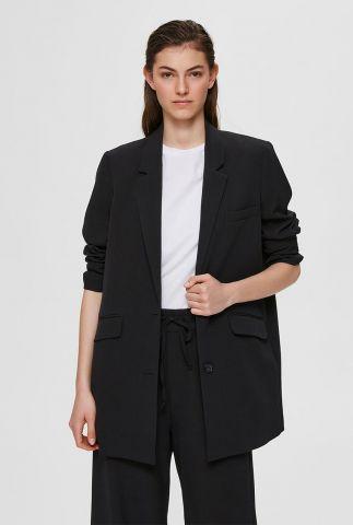 zwarte klassieke blazer met knoop sluiting en klepzakken sia blazer