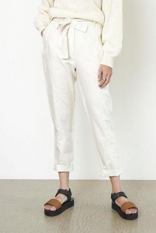 off white broek met ceintuur van linnenmix selene new track trousers