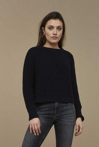 zwarte grof gebreide trui sem london pullover