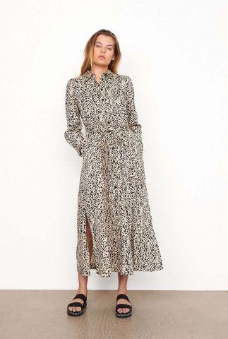 zwarte maxi jurk met sierlijke print sevilla maxi dress 54772