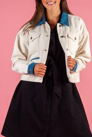 ecru kleurige spijkerjas sika denim jacket
