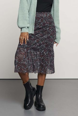 midi rok met all-over print sk iggy sheer