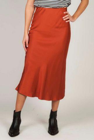 zijde look rok van viscosemix met getailleerde pasvorm sk slinky