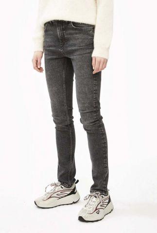 donker grijze skinny jeans van biologisch katoen skinny grey