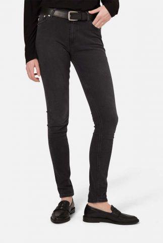 zwarte skinny jeans van gerecycled materiaal sk hazen black