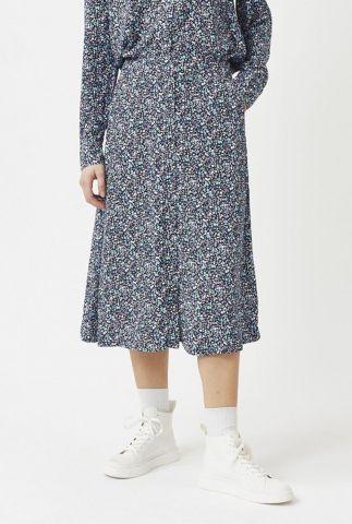 donker blauwe rok met all-over print sodot 2219