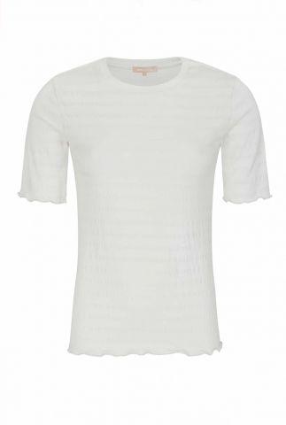 wit t-shirt met ingeweven streep dessin ophelia 2/4 t-shirt SR421-300