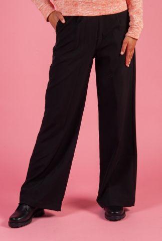 zwarte high waist wijde broek sophie wide trousers