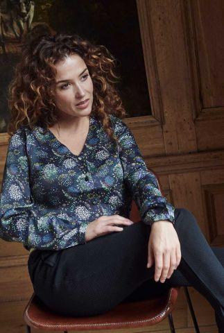 donker grijze blouse met print sparky fireworks by katja sp6332