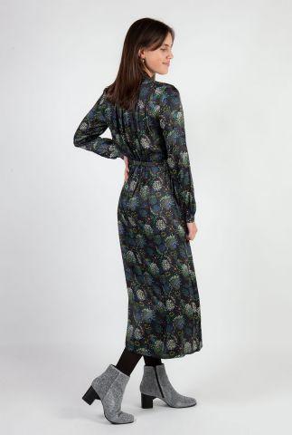 donker grijze viscose jurk met print sparky fireworks by katja sp6349