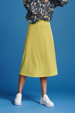 gele a-lijn glitter rok lemon shine sp6509