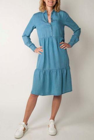 denim look gelaagde jurk moira ls dress sr220-721