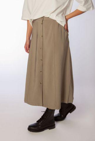 donker groene rok met knoopsluiting francine skirt SR221-755