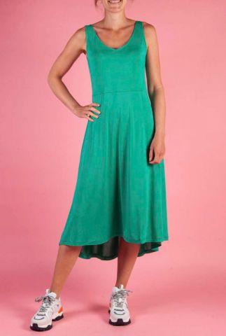 groene midi jurk van modal ella tank dress sr319-313