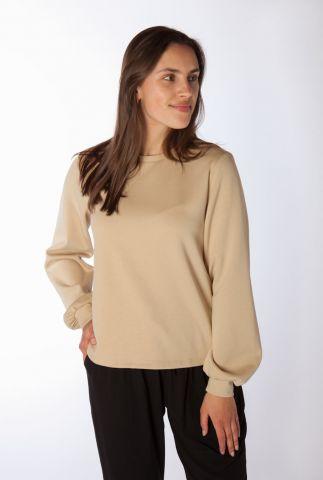 zachte jersey sweater met ronde hals cara ls sweat SR321-309