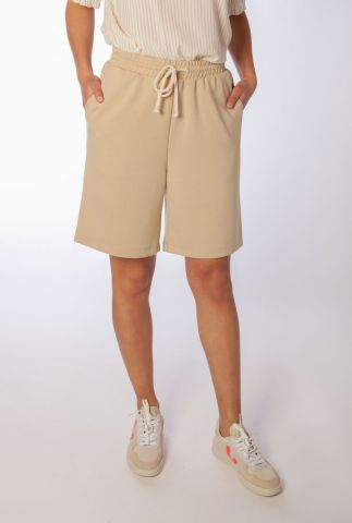 beige short met tunnelkoord cara long shorts SR321-310