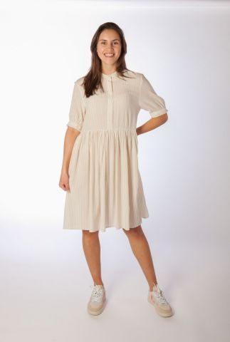 gestreepte jurk met uitlopende rok allysia dress SR321-723