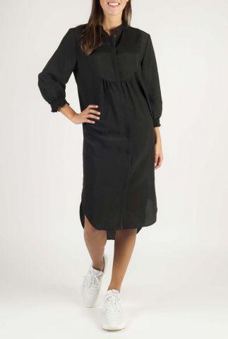 zwarte blouse jurk met plooi details nelly dress SR420-752