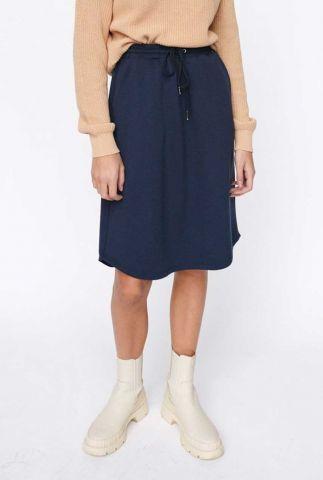 donker blauwe midi rok cara skirt SR421-380