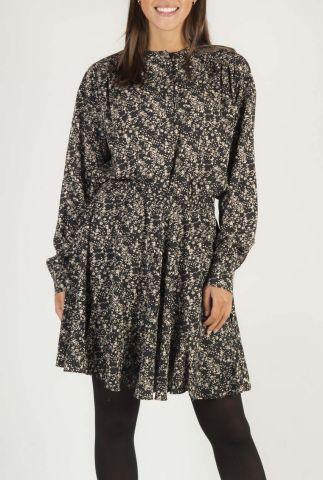 zwarte blouse met all-over dessin SR520-704